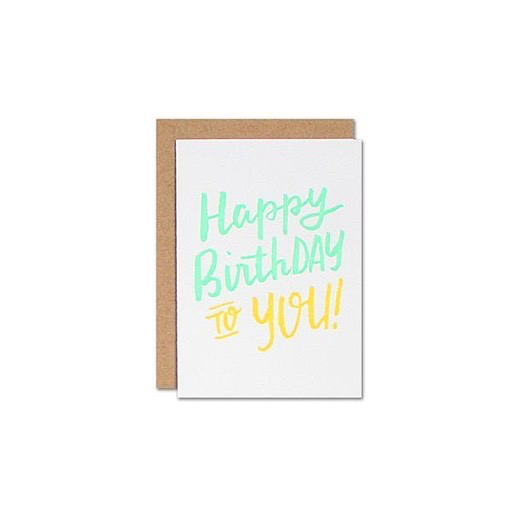 Parrott Design Studio Parrott Design Card Mini - Happy Birthday
