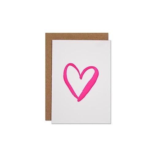 Parrott Design Card Mini - Heart