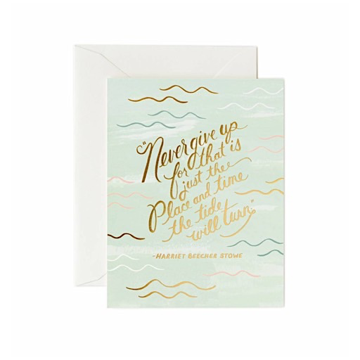 Rifle Paper Co. Card - The Tide Will Turn
