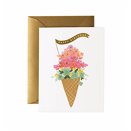 Rifle Paper Co. Rifle Paper Co. Card - Ice Cream Birthday