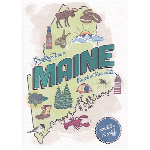 Three Little Words Maine Scratch 'n Sniff Card