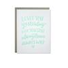 Parrott Design Card - Love Always
