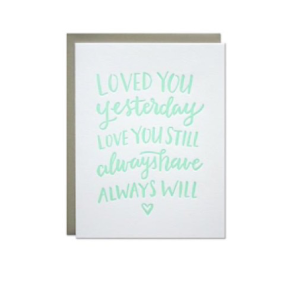 Parrott Design Studio Parrott Design Card - Love Always