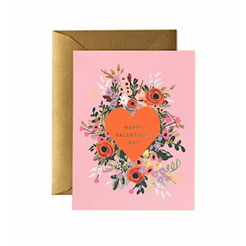 Rifle Paper Co. Rifle Paper Co. Card - Blooming Heart Valentine
