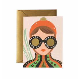 Rifle Paper Rifle Paper Co. Card - Ski Girl Holiday