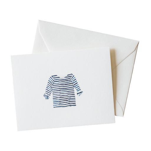 Sara Fitz Card - Striped Shirt