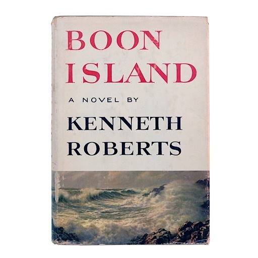 Vintage Boon Island by Kenneth Roberts - 1st edition 1956 Vintage hardcover with original dust jacket