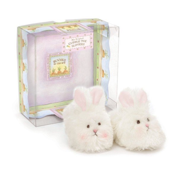 Bunnies By The Bay Cuddle Toe Bunny Slippers - 6-12M