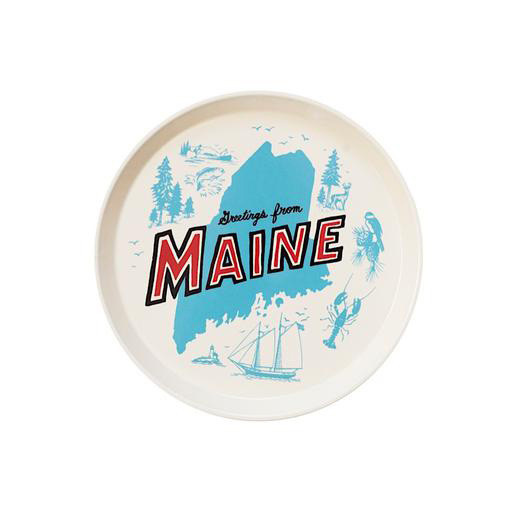 Maptote Daytrip Society Retro Maine Round Tray