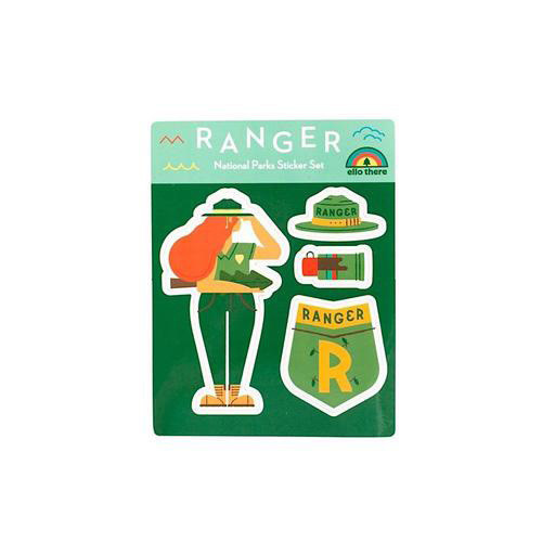 Ello There - National Park Ranger Girl Sticker Set