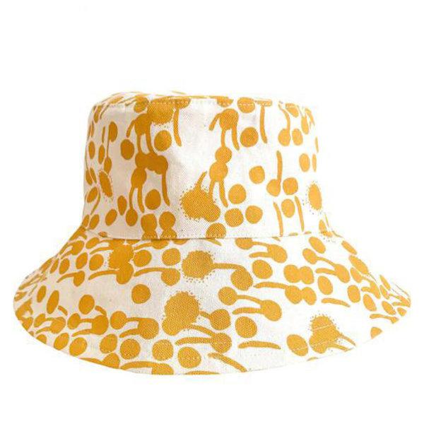 Erin Flett Erin Flett Bucket Hat - Small - Gold - Berries