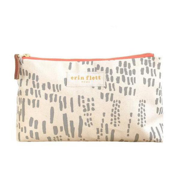 Erin Flett Erin Flett Heavy Canvas Jen Bag - Rainy Day Rain - Orange Zip