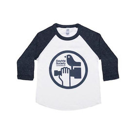 Maptote Daytrip Society Kids Baseball Tee - White/Blue