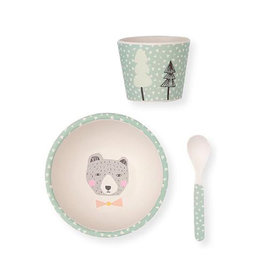 Love Mae Love Mae Bamboo Baby Feeding Set - Bear