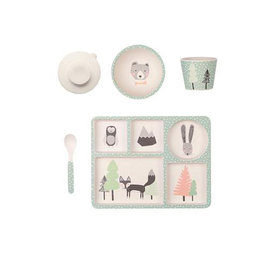 Love Mae Love Mae Bamboo Divided Plate Set - Fox and Friends