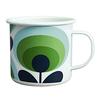 Orla Kiely Enamal Mug - 70s Flower Oval - Apple