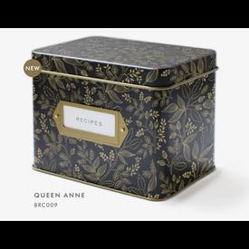 Rifle Paper Rifle Paper Co. Recipe Tin - Queen Anne