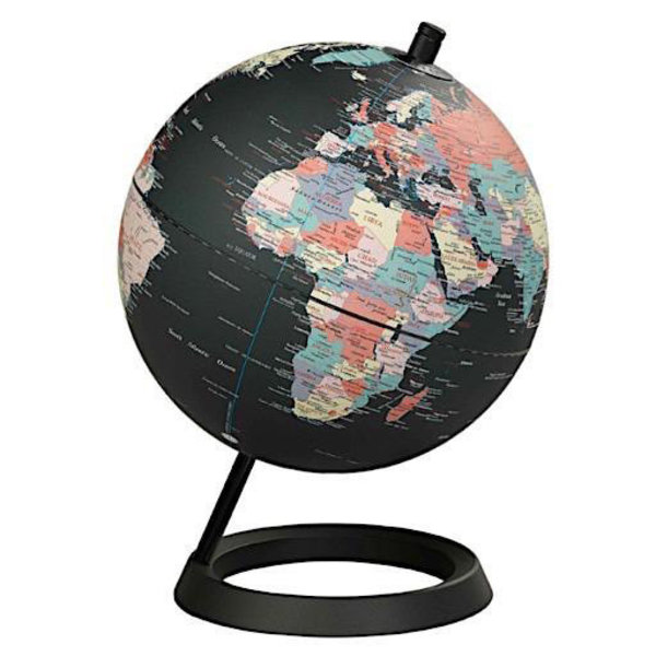 "Wild & Wolf Globe 8"" - Classic Black Ocean"