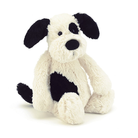Jellycat Jellycat Bashful Black/Cream Puppy - Small - 7 Inches