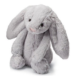 Jellycat Jellycat Bashful Grey Bunny - Medium - 12 Inches