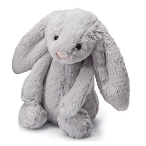 Jellycat Bashful Grey Bunny - Medium - 12 Inches
