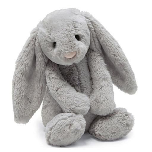 Jellycat Bashful Grey Bunny - Small 7 Inches