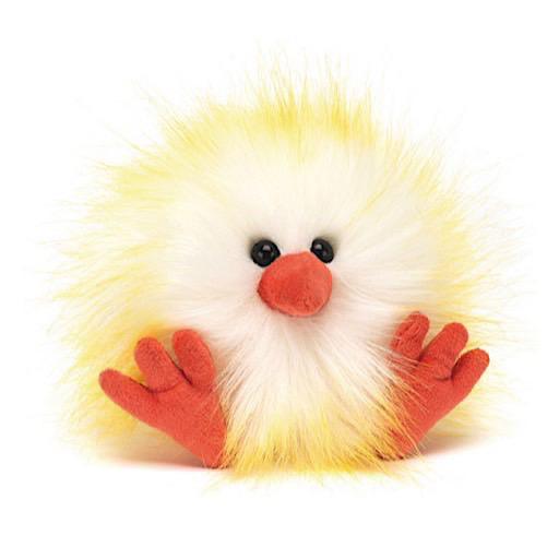 Jellycat Crazy Chick White & Yellow - 4 Inches