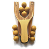 Little Lark Wooden Slingshot - Gold Handle with Gold Felt Balls