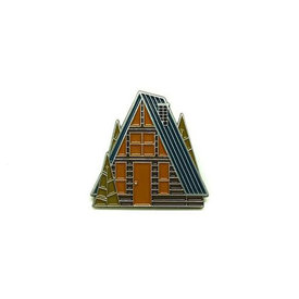 Lost Lust Supply Lost Lust Supply Enamel Pin - A-Frame - Spring