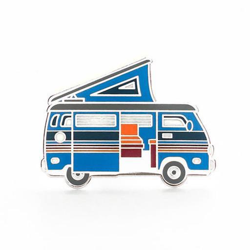 Lost Lust Supply Enamel Pin - Camper Van - Blue
