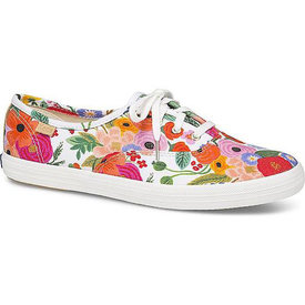 KEDS KEDS Adult + Rifle Paper Co. - Champion / Garden Party - Snow White Multi