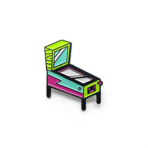 Lost Lust Supply Enamel Pin - Pinball - Neon