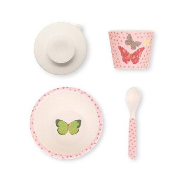 Love Mae Love Mae Bamboo Feeding Set - Butterflies