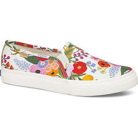 KEDS KEDS Adult + Rifle Paper Co. - Double Decker / Garden Party - Aqua Multi