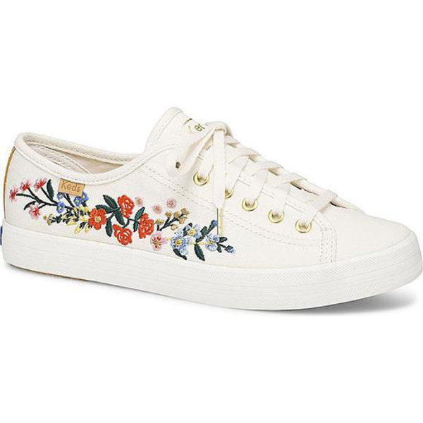 KEDS KEDS Adult + Rifle Paper Co. - Kickstart / Vines Embroidery - Snow White