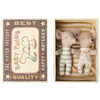 Maileg Mouse - Baby Twins in Box - Yellow Stripe