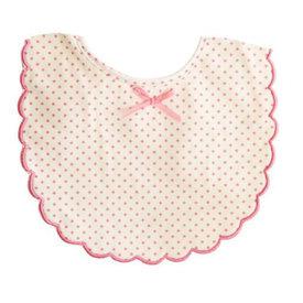 Alimrose Alimrose Scallop Bib - Spot Pink