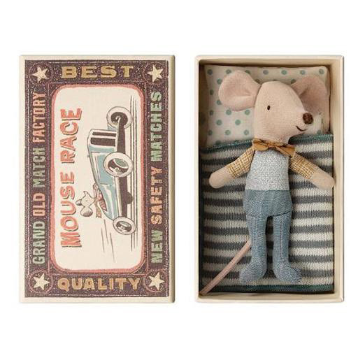 Maileg Maileg Mouse - Little Brother in Box - Bow Tie