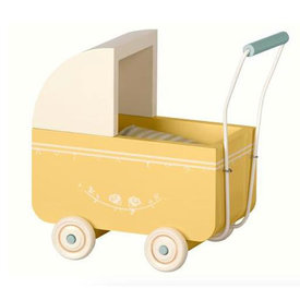 Maileg Maileg Pram with Bedding - Yellow