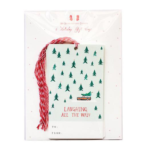 Mr. Boddington's Studio Laughing All The Way Gift Tag - Set of 6