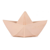 Oli & Carol Origami Boat - Nude Teether