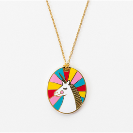 Yellow Owl Workshop Yellow Owl Workshop Necklace - Unicorn Cameo