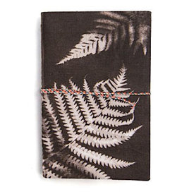 Printfresh Studio Printfresh Studio Charcoal Ferns Small Fabric Notebook