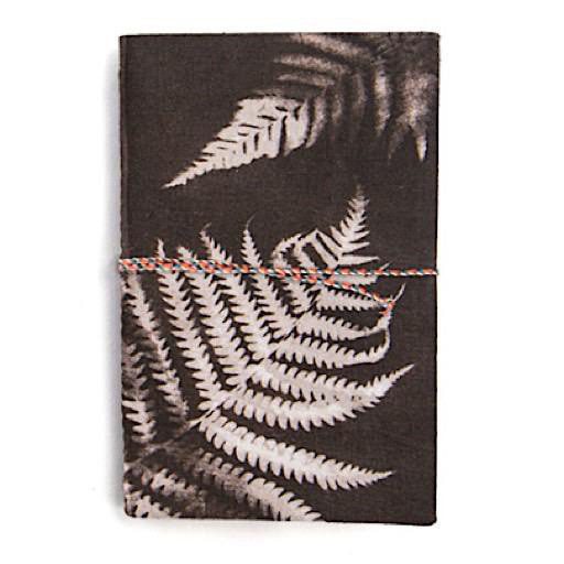Printfresh Studio Charcoal Ferns Small Fabric Notebook