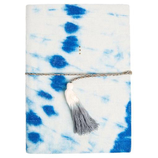 Printfresh Studio Indigo Diagonal Tie Dye Medium Gauze Notebook