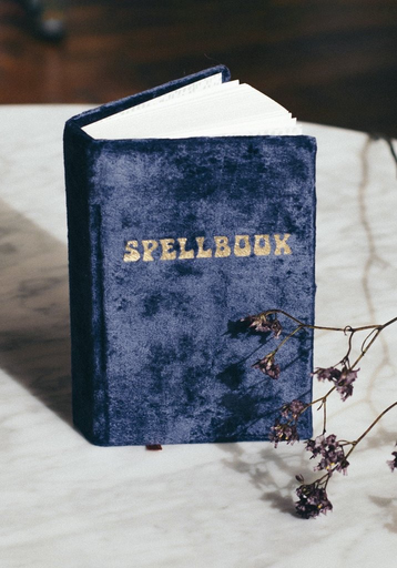 Printfresh Studio Journal - Small Velvet Spellbook - Navy