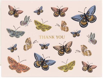 Rifle Paper Co. Card - Monarch Thank You