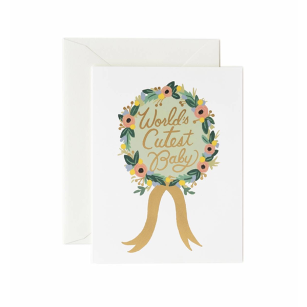 Rifle Paper Rifle Paper Co. Card - Worlds Cutest Baby Award