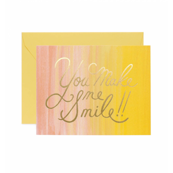 Rifle Paper Rifle Paper Co. Card - You Make Me Smile