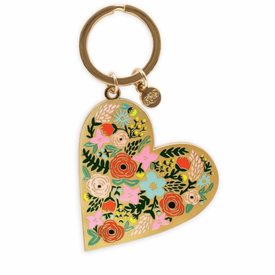 Rifle Paper Co. Rifle Paper Co. Enamel Keychain - Floral Heart